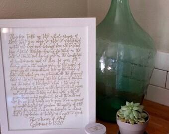 Armor of God Letterpress Print