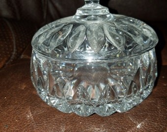 Vintage Cut Glass Candy Dish W/Top