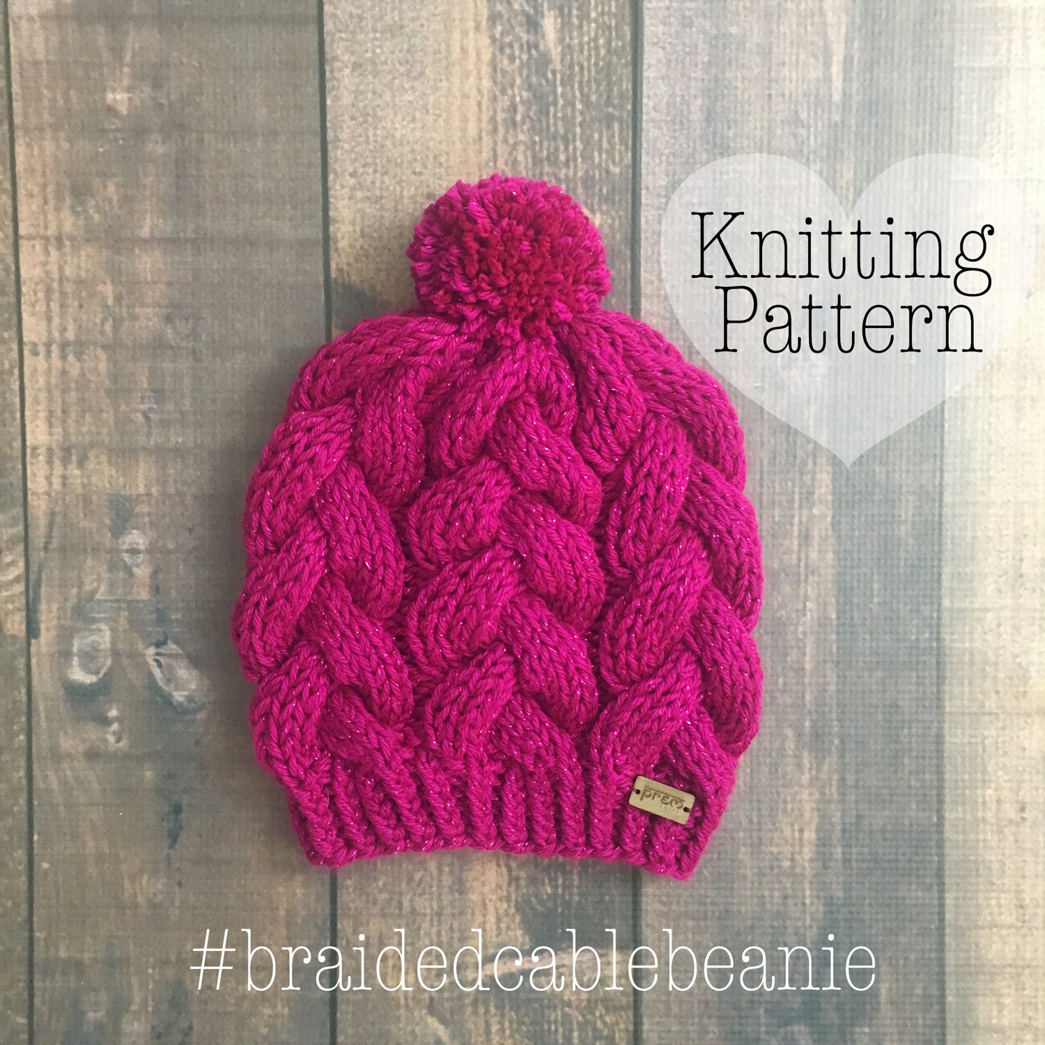 KNITTING PATTERN: Braided cable beanie