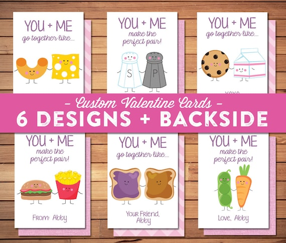 Girl or Boy Valentine Cards PRINTABLE Perfect Pair Milk – Boy Valentine Cards