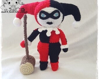 Harley Quinn Plushie - PDF Crochet Pattern - Instant Download