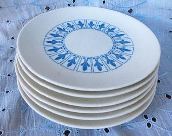 Laughlin Fleur-de-Lis Appetizer Plates - Set of 6