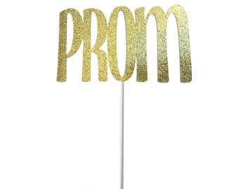 Prom Cake Topper- Any Color Glitter