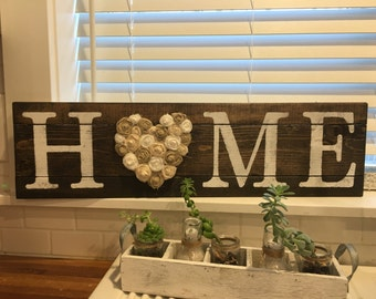 HOME sign, Rustic wall decor, LOVE sign, Shabby Chic home decor, Rustic decor, Rustic home sign, Rustic Love sign, Rustic Wedding sign