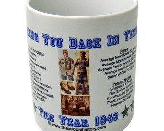 1943 Taking You Back In Time Coffee Mug
