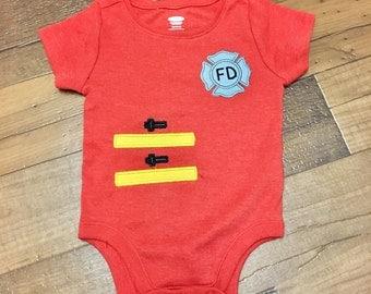 Fireman Themed Bodysuit | Made to Order | Fireman Suit
