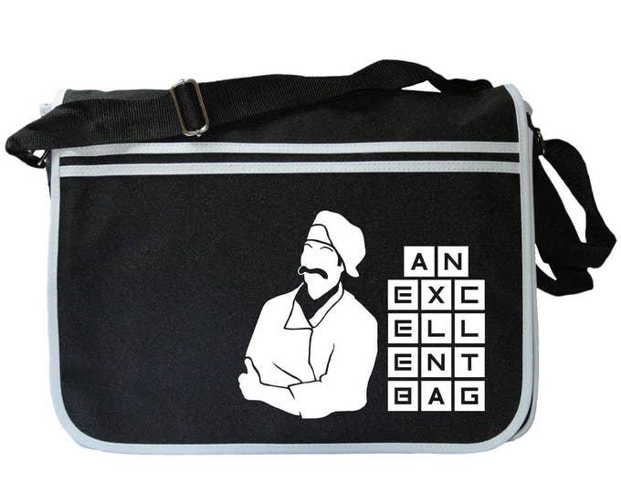 """Ashens Chef Excellence """"An Excellent Bag"""" Black Messenger Shoulder Bag"""