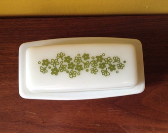 Vintage Stocking Stuffer Pyrex Spring Blossom Butter Dish