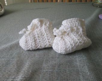 Simple white booties