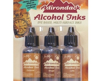 Alcohol Ink CARAMEL/GINGER/LATTE Tim Holtz - TIM20691 Cabin Cupboard cc03