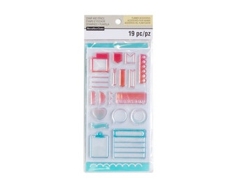 "Creative Year SMALL TRACKER Planner Stamps & Stencil Set Acrylic stamps by Recollections 6"" x 3.5"" Stamps 1 - cc02 SS012"