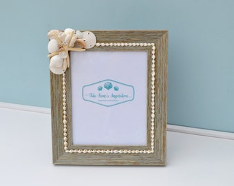 Beach Wedding, Nautical Decor, Coastal Decor, Beach Wedding Gift, Beach Picture Frame, Seashell Frames, Nautical Picture Frame, Beach Decor