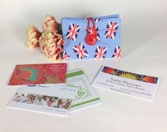 Credit Card Wallet, Union Jack Gift Card Holder, British Flag Business Card Purse, Royal Union Flag Loyalty Mini Wallet, Reward Card Case