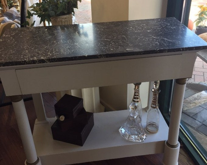 Vintage 1st period Empire Marble Top Console. 1 drawer