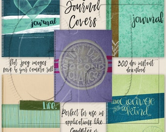 Digital Planner or Journal Covers for iPad GoodNotes - Set 1