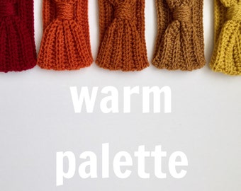 Crocheted Turband ( Warm Palette)