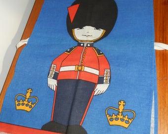 Vintage Cotton Children's British Royal Guard Apron from London