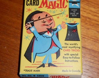 Vintage Magic Cards from 1959 - Card Tricks in a Deck with Instructions by Ed-U-Cards
