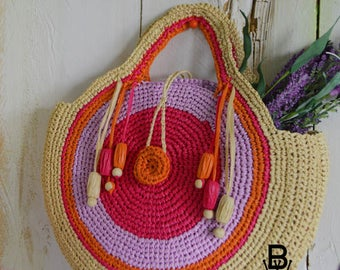 Crochet Straw Bag Pattern ( for little girls )