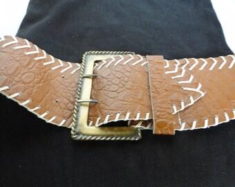 Vintage Alligator Embossed Belt