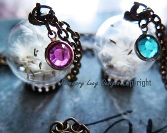 BEAUTIFUL WISH necklace handmade glass orb and brass many options by Rosemary Lucy Designs