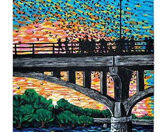 """Art Print """"Bats on South Congress"""""""