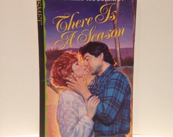 Recycled 80s Romance Novel Blank Spiral Notebook There Is a Season