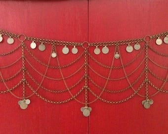 Ostara bronze Kuchi coin belt or drape