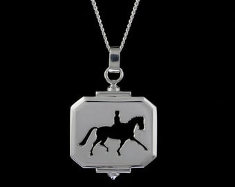 Extended Trot Cut Out Necklace, Dressage Extended Trot, Dressage Jewelry, Horse Jewelry, Equestrian Jewelry, Horse Necklace