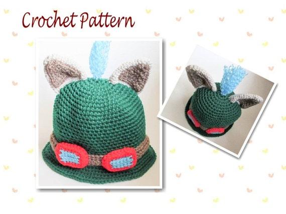 Crochet Pattern Novelty Hats : Crochet Pattern Teemo Hat League Of Legends Hat LOLHat Gamers