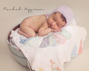 newborn fuzzy hat, newborn girl prop, girls photo hat, photography prop, photo prop, handmade bonnet, textured prop hat