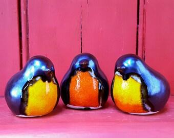 Love Bird - Round Robin - Silver & Orange
