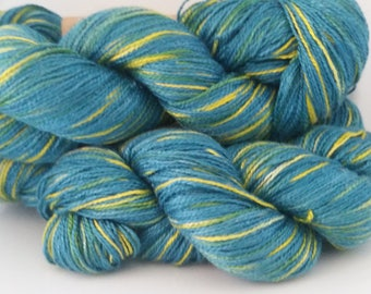 Peaceful Glade - hand painted lace weight silk yarn