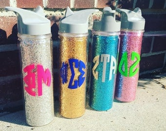 Glitter {Sorority} Water Bottle