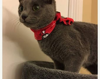 SPECIAL SALE EVENT Tie-on Cat Bandana You are Purrfect - XXSmall or XSmall