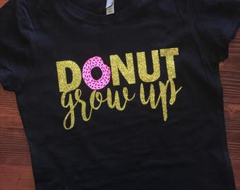 Donut grow up - Girls fitted tee