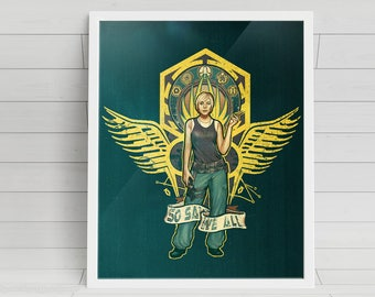 So Say We All signed Poster Art Print - 11x14