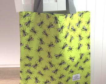 Housefly Greenery Insect Tote Bag - Gift for her - Housefly - Insect Tote Bag - Bridesmaid Gift - Insect Print - Insect Gift - Green Tote