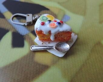 Zipper zipper original cake miniature handmade (cold porcelain)