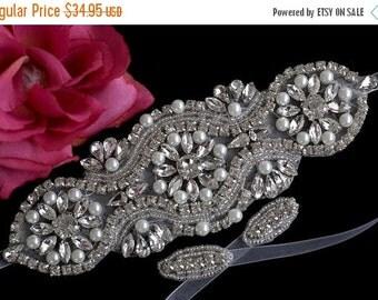 Rhinestone Bridal Bracelet - Wedding Bracelet - Bracelet - Bridal Beaded Crystal Cuff - Bridal Wedding Jewelry - Beaded Crystal Bracelet