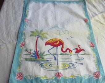 Vintage Florida Flamingo Tea Towel