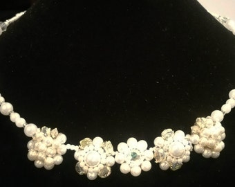 Memory Wire choker with pearls