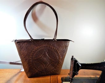 Quilted leather Tote/handbag