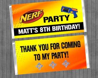 Nerf Party Candy Bar Wrapper