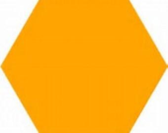 Yellow Hexagon Die Cut Shape