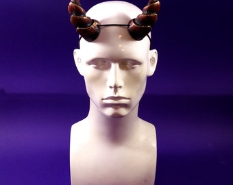 3 inch Medium Horns - Ruby Red Horns - Pan, Faun, Satyr, Demon, Dryad