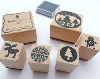 Stamp set Christmas country side Moose