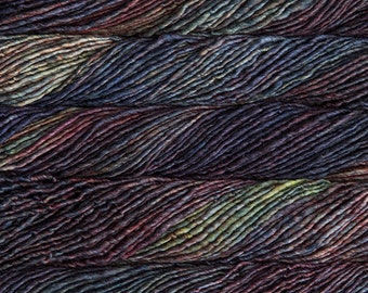 SALE 25% OFF Malabrigo Mecha Pocion Merino Wool #139 in bulky weight 1 ply yarn, pastel blue, green, purple, yellow in 100 gram skein