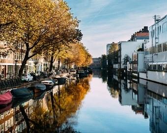 Amsterdam River Reflection Photo || Fine Art Photography