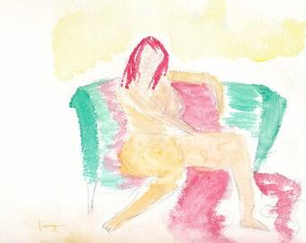 Figure on Sofa